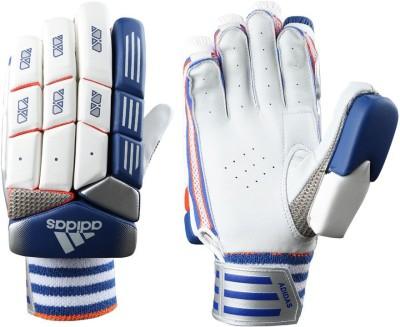 Adidas BG SL 22 PRO V1 Batting Gloves (M, White, Blue, Red)