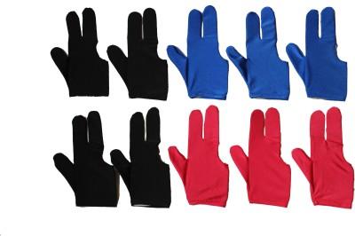 Billiedge Multicolour (Pack Of 10 ) Billiard Gloves (Free Size, Multicolor)