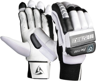 Neo strike Pro1100youth Batting Gloves (Youth, Black, White, Silver)