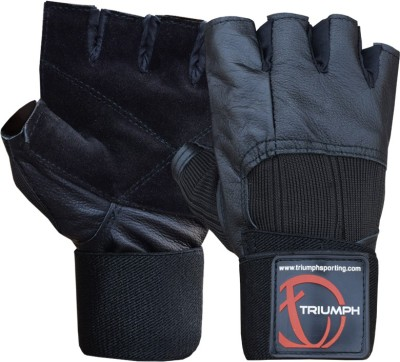 Triumph Muscle Power Gym & Fitness Gloves (L, Black)
