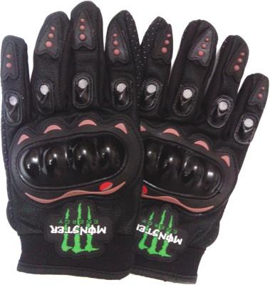 Monster Full Finger Driving Gloves (XL, Black)