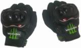 Monster Biker Riding Gloves (Free Size, ...