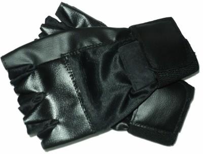 Vinto Workout Gym & Fitness Gloves (Free Size, Black)