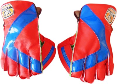 Turbo CENTURY (Ping-Pong) Wicket Keeping Gloves (Youth, Red, Blue)