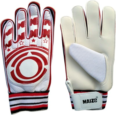 Maizo Shield (Assorted) Football Gloves (M, White, Red)