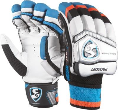 SG Prosoft Batting Gloves (Men, White, Blue)