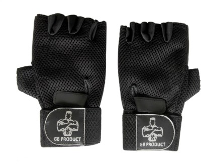 GB BLACK TOP GRADE Gym & Fitness Gloves (Free Size, Black)