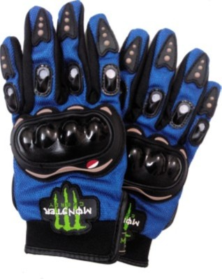 Capeshoppers MONSTER Driving Gloves (L, Blue, Multicolor)