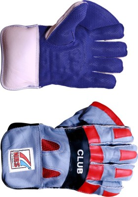HRS Club Wicket Keeping Gloves (Men, Multicolor)