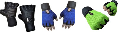 Jack & Ginni Glovess Boxing Gloves (Free Size, Black, Blue, Green)