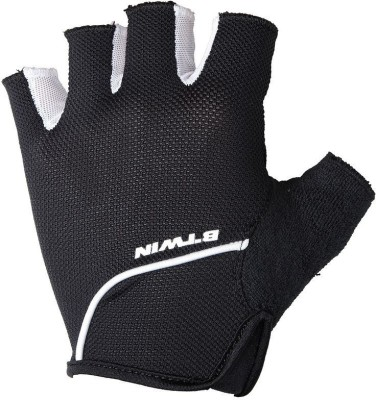 Btwin 500 Cycling Gloves (S, Black, White)