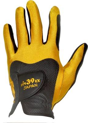 Fit39 EX Golf Gloves (S, Black, Gold)