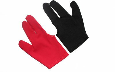 Billiedge Combo of Black & Red Gym & Fitness Gloves (Free Size, Black, Red)