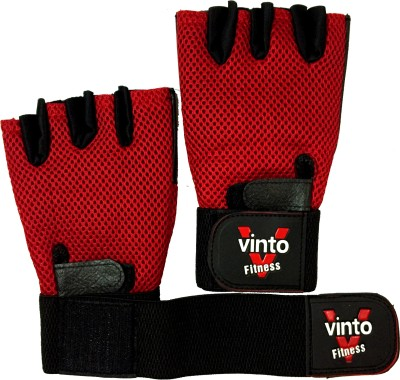 Vinto PRO WEIGHT LIFTER Gym & Fitness Gloves (Free Size, Red)