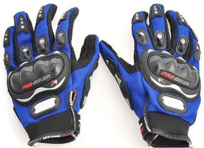 Pro Biker Bike Racing Riding Gloves (L, Blue)