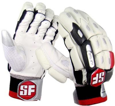Stanford Platinum Mens Batting Gloves (L, White, Black, Red)
