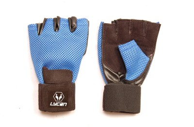 Lycan Active Gym & Fitness Gloves (Free Size, Blue)