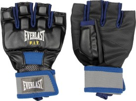 Everlast Cardio Fit Gym & Fitness Gloves (M, Black, Blue)