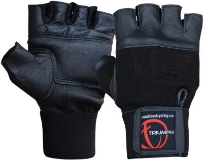 Triumph Power Gym & Fitness Gloves (XL, Black)