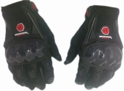 Scoyco Biker Riding Gloves (XL, Black)