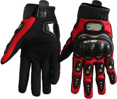 meenu arts PRO-BIKER-R-L-034 Driving Gloves (L, Red)