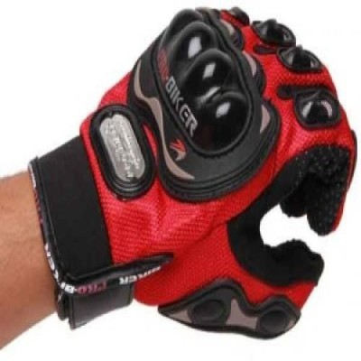 Joynix PRO BIKER Riding Gloves (XXL, Red)