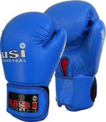 USI Immortal Amateur Competition Boxing Gloves (Free Size, Blue)
