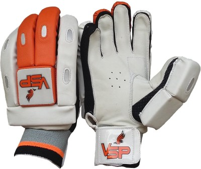 VSP Brio Batting Gloves (Youth, White, Orange)