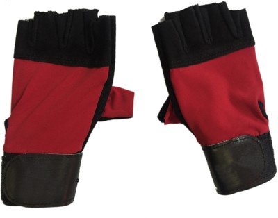 CP Bigbasket Sweat Leather Red & Black Gym & Fitness Gloves (Free Size, Red, Black)