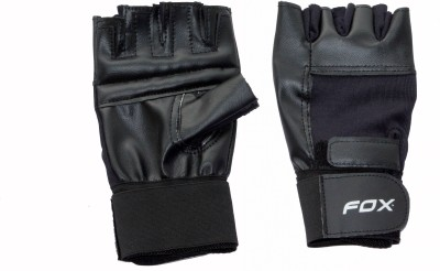Fox Power Gym & Fitness Gloves (Free Size, Black)