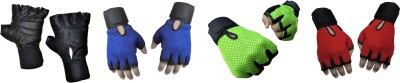 Jack & Ginni Fitness1 Gym & Fitness Gloves (Free Size, Black, Blue, Green, Red)
