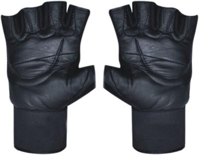 CP Bigbasket sheep leather Full Black Gym & Fitness Gloves (Free Size, Black)