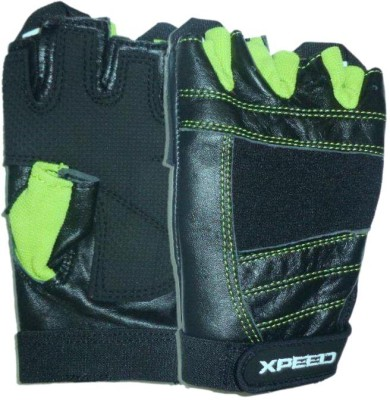 Xpeed Weight lifting Gym & Fitness Gloves (Free Size, Black)