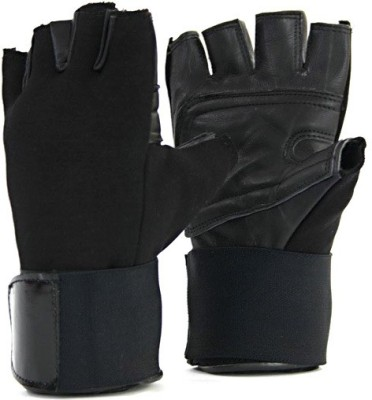 Krazy Fitness Club Gym & Fitness Gloves (Free Size, Black)