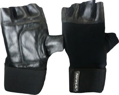 Nivia Leather Gym & Fitness Gloves (M, Black)