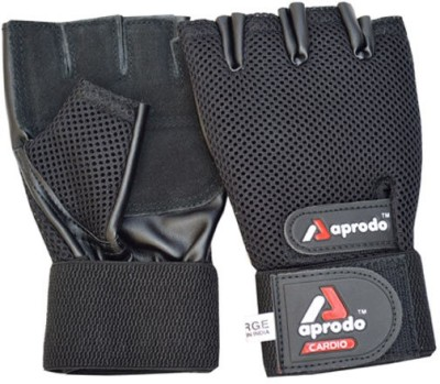 aprodo BELCO356 Gym & Fitness Gloves (L, Black)