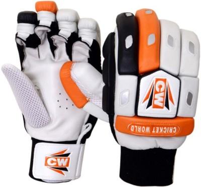 CW Crown Batting Gloves (Men, Orange, White, Black)
