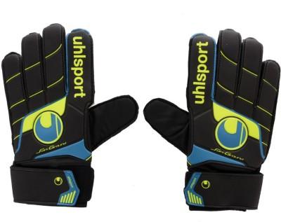 UHL Sport Fangmaschine Football Gloves (Men, Black, Yellow, Blue)