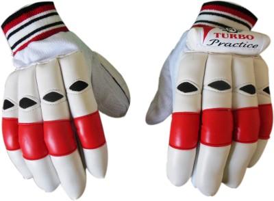 Turbo PRACTICE Batting Gloves (Men, White, Red)