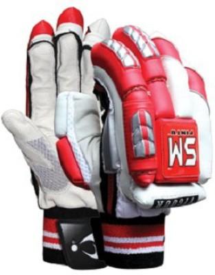SM Vigour Batting Gloves (Men, White, Red)