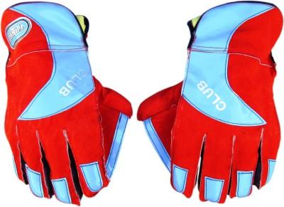 TURBO Club Wicket Keeping Gloves (Men, Red, Blue)