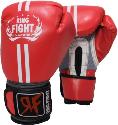 Ring Fight Pro Boxing Gloves (M, Red)