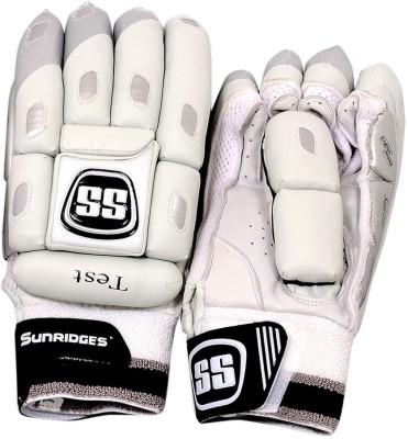 SS Test Batting Gloves (L, White, Black)