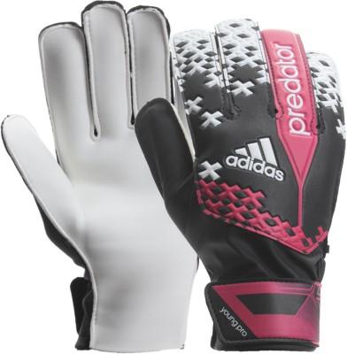 Adidas Pred Young Pro Goalkeeping Gloves (Size-4, Orange, Blue)