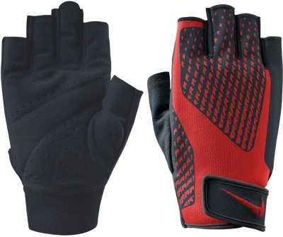Nike Men,S Core Lock Training 2.0 Gym & Fitness Gloves (XL, Black, Red)
