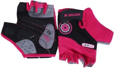 Vector X VX 550 Gym & Fitness Gloves (S, Pink, Black)