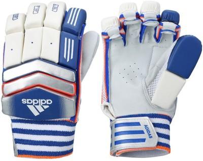 Adidas BG ROOKIE V1 16 Batting Gloves (M, White, Blue, Red)