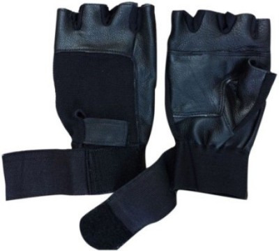 Real Choice Glovesblack Gym & Fitness Gloves (Free Size, Black)