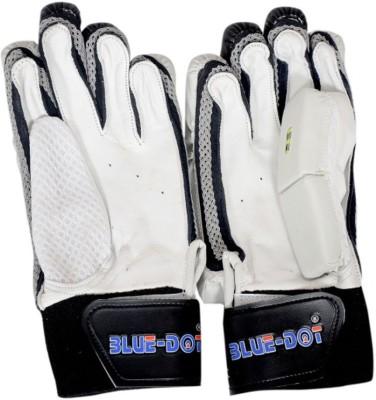 Blue Dot Ultralite Batting Gloves (L, White, Black)
