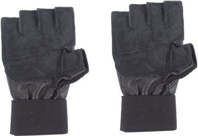 Sihra Fitness Gym & Fitness Gloves (Free Size, Black)